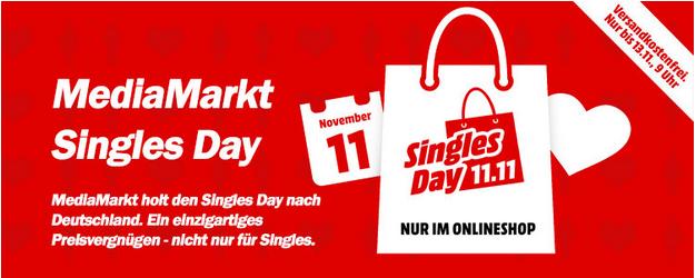 HINWEIS: Singles Day bei Media Markt – Knallerangebote ab 20 Uhr
