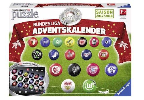 Bundesliga Adventskalender 2017 für 14,99€ (statt 20€)