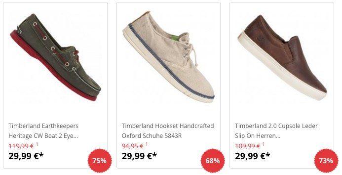 Timberland Sneaker und Bootsschuhe für je 29,99€ + 5€ Gutschein ab 50€