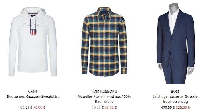 Hirmer Abteilungsumbau mit bis zu 50% auf Anzüge, Hemden und Strick + 10€ Gutschein ab 80€