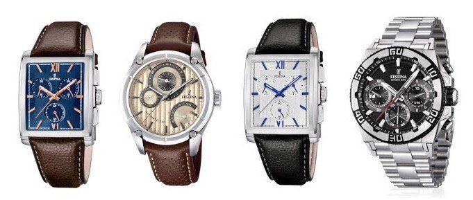 Festina Uhren für Damen und Herren bei vente privee   z.B. Multifunktionsuhr mit braunem Lederarmband ab 75,90€ (statt 125€)