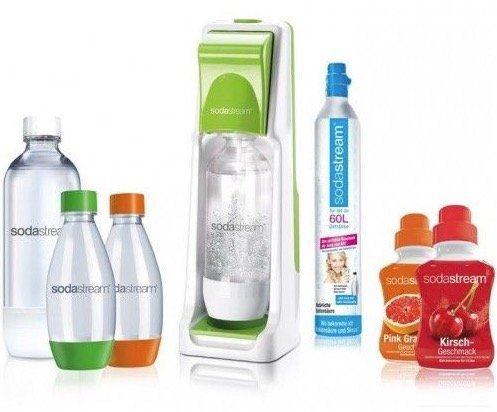 Sodastream Cool inkl. 4 PET Flaschen, 2 Sirup und CO2 Zylinder für 49,90€ (statt 62€)