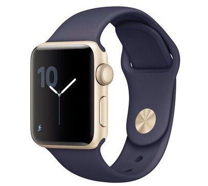 Apple Watch Series 2 (38mm) mit Sportarmband in Gold für 269€ (statt 320€)