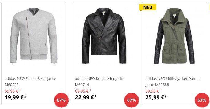 adidas Jacken für Damen und Herren schon ab 19,99€