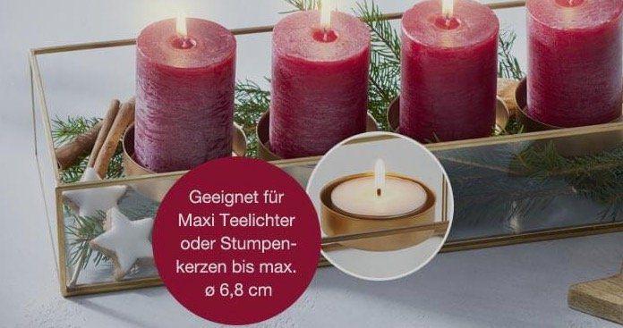 Bis zu 20€ Rabatt im Leonardo Shop   z.B. Adventskerzenschale für 39,95€(statt 50€)