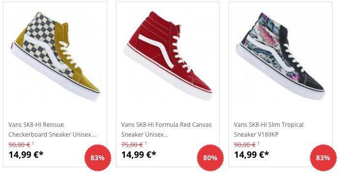 TOP! Vans Sneaker für je 14,99€ bei SportSpar   teilweise nur noch Restgrößen