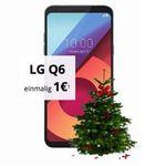 LG Q6 für 1€ + gratis Weihnachtsbaum + o2 Smart Surf mit 1GB LTE für 9,99€ mtl.