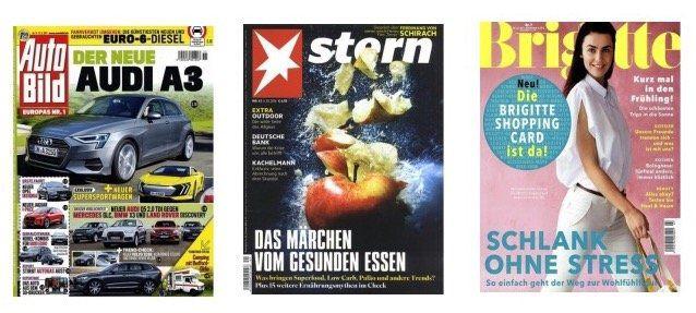Knaller! Gratis Zeitschriften (ohne Angabe der Bankverbindung) zzgl. 3,95€ VSK   automatisch auslaufend!