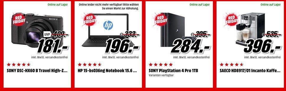 Läuft noch! Media Markt Red Friday Sale   z.B. HTC U Ultra 64 GB White für 249€