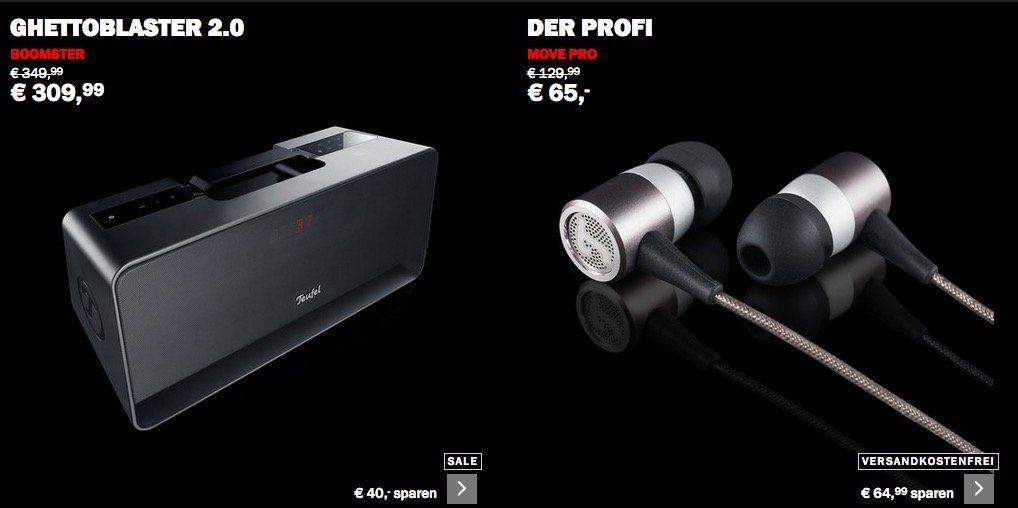 Teufel Cyber Monday Sale mit bis zu  50%   z.B. Teufel Boomster für 244,98€ (statt 330€)