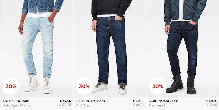 G Star Cyber Monday Sale mit 30% auf alles + 10% Gutschein + VSK frei