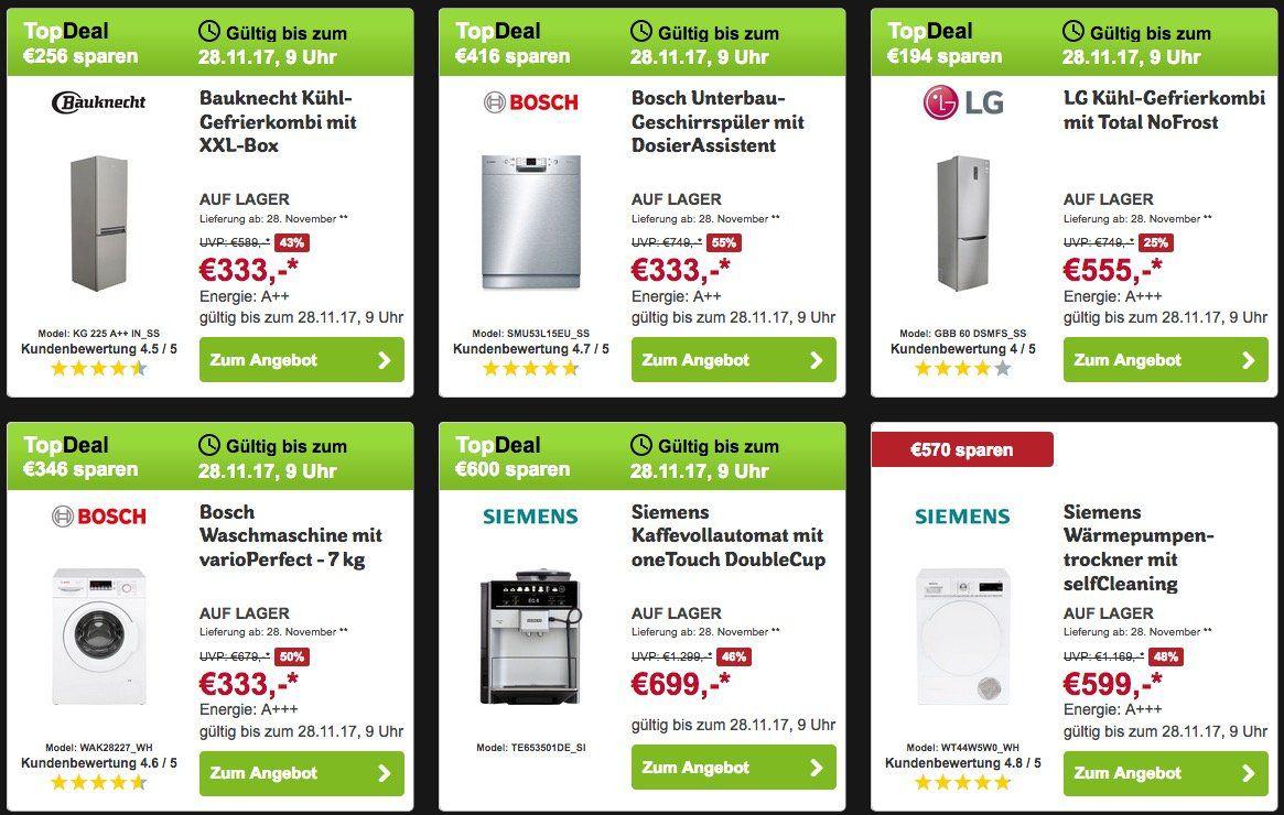 AO Cyber Monday Deals   z.B. Amica Kühl Gefrierkombination für 222€(statt 253€)