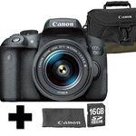 Canon EOS 750D Full HD Kamera + 18-55mm für 499€ (statt 580€) + Tasche + Speicherkarte + Reinigungstuch