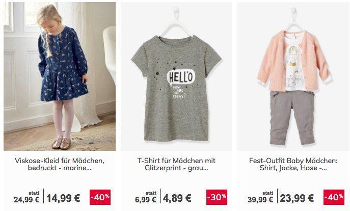 Vertbaudet Sale mit bis zu 60% Rabatt + 15€ Gutschein ab 60€