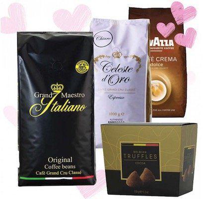 3kg Kaffeebohnen + 150g belgische Trüffelschokolade für 35,94€