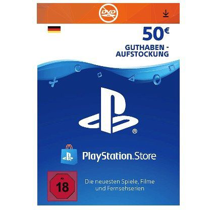 50€ Sony PlayStation Network Card für 42€ (statt 46€)
