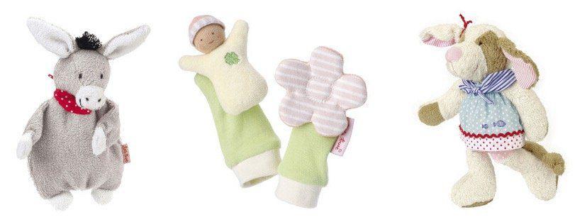 Käthe Kruse Puppen, Spieluhren, Spielzeuge bei vente privee   z.B. Activity Drache Kuno für 15,90€ (statt 24€)
