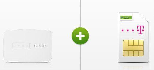 Telekom 10GB LTE Datentarif für 15,99€ mtl. oder 4GB für 9,99€ mtl. + Alcatel LinkZone MW40V WLAN Hotspot für 1€