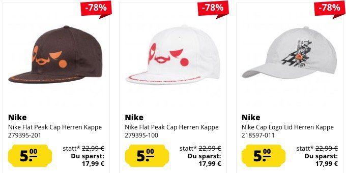 Nike Caps ab je nur 4,99€ + 3,95€ VSK