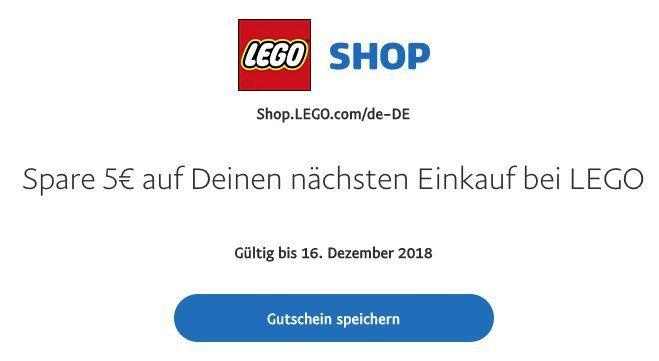 Gratis 5€ Paypal Guthaben für den Lego Online Shop mit nur 10€ MBW