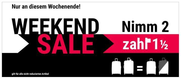 Nimm 2 zahl 1,5 Weekend Sale bei Koffer direkt   nicht auf Sale (Rimowa und Samsonite Koffer)