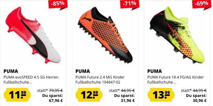 Fußball Schuhe Sale ab 11,99€ bei SportSpar   z.B. Puma Esito Classico SG ab 17,99€ (statt 31€)