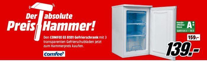 comfee GS8551 A++ Gefrierschrank für 139€ (statt 201€)