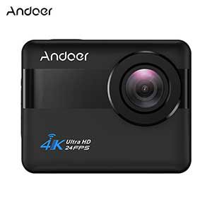 Andoer AN1   wasserdichte 4K WiFi Action Cam mit 2,31 Touchscreen, 20 MP, 170° Weitwinkel, 5x Zoom, Anti Shake für 56,99€ (statt 73€)