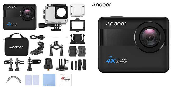 Andoer AN1   wasserdichte 4K WiFi Action Cam mit 2,31 Touchscreen, 20 MP, 170° Weitwinkel, 5x Zoom, Anti Shake für 65,15€ (statt 73€)