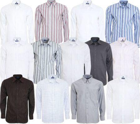 DERBY OF SWEDEN Herren Nadelstreifen Hemden bis 2XL für je 12,99€