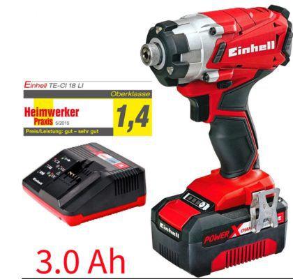 Einhell TE CI 18 Li Power X Change System Akku Schlagschrauber 3Ah + Koffer für 77,77€