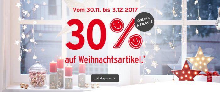 Ernstings Family mit 30% auf weihnachtliche Artikel bis Mitternacht