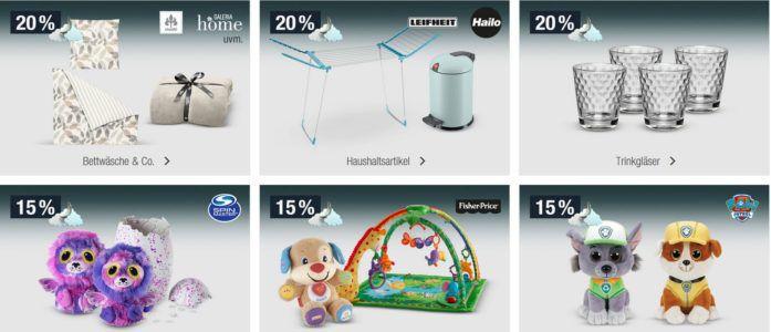 20% Rabatt auf ausgewählte Sportmarken, Trinkgläser, Haushaltsartikel uvm.   Galeria Kaufhof Mondschein Angebote