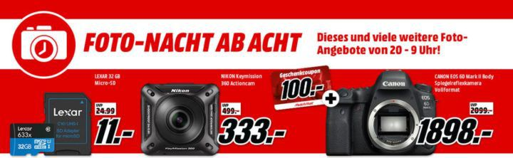 Media Markt Foto Late Night: z.B. SONY HDR CX405 B.CEN Camcorder Full HD für eff. 169€