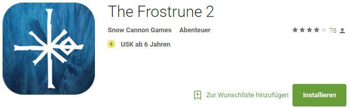 The Frostrune (Android, iOS) gratis statt 5,49€