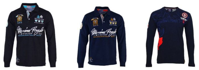 Geographical Norway Canadian Peak   Herren Langarm Shirts & Polos für je 19,99€