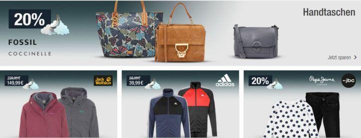 20% Rabatt auf Geschirr & Co.   Handtaschen, Jack Wolfskin Outdoorjacke uvm.   Galeria Kaufhof Mondschein Angebote