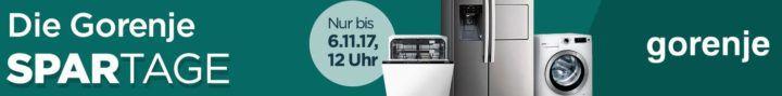 Gorenje Spartage: günstige Waschmaschinen, Herde, Kühlschränke mit bis zu 23% Rabatt