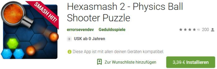 Hexasmash 2 (Android) gratis statt 3,39€