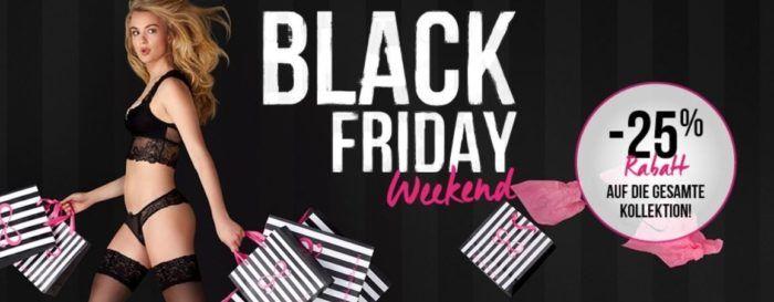 Hunkemöller Black Weekend: satte 25% auf alles   günstige BHs, Slips, Nachtwäsche, Bikinis