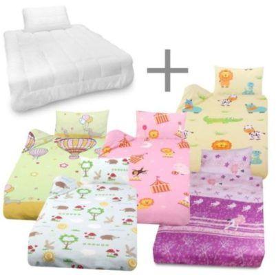 Julido Kinder Bettwäsche Bettdecke Kissen 135x10040x60cm Für