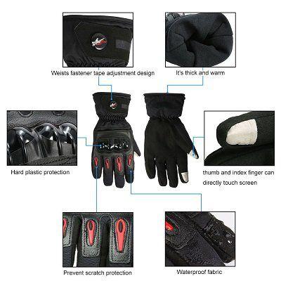 Touchscreen sensitive Motorrad Handschuhe für den Winter für 7,64€