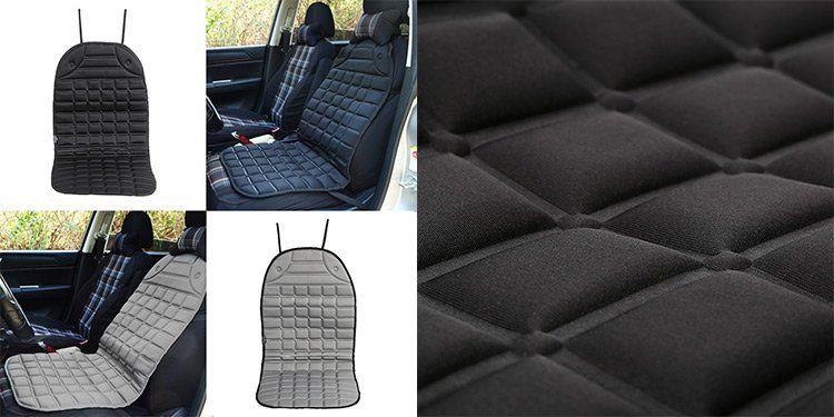 Beheizbare Autositzauflage in Schwarz oder Grau für je 11,17€ (statt 18€)