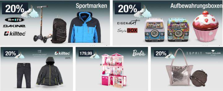 20% Rabatt auf Sportmarken, Bettwaren, Damentaschen uvm.   Galeria Kaufhof Mondschein Angebote