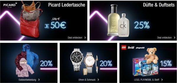 Kaufhof Black Deals: 20% Rabatt auf Düfte, Uhren & Schmuck, Haushaltswaren, Koffer uvm.