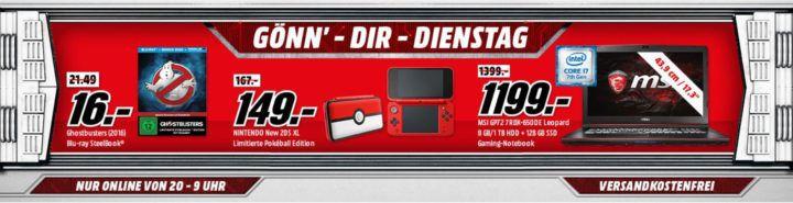 Heisenberg Shirts für 12€   Nintendoo XL Poke Edition für 149€ uvm. im Media Markt Dienstag Sale