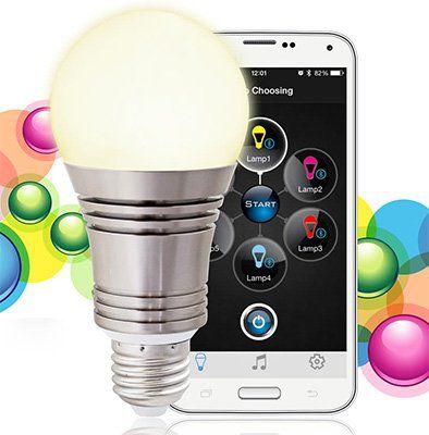 Lixada 7,5W LED Glühbirne 640LM E27 mit App Steuerung für 12,31€