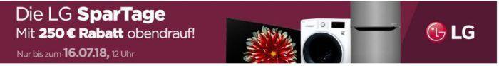 LG Spartage für Haushaltsgeräte + keine VSK   z.B. LG Waschmaschine für 449€ (statt 529€)