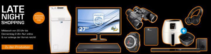 Saturn Late Night Shopping Übersicht   u.a.: PHILIPS HTL2163B/12 Heimkino System 5.1 für 111€