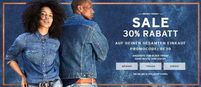 30% Rabatt auf alles im Levis Shop   z.B. Herrenhemd Jackson Worker für 48,97€ (statt 60€)